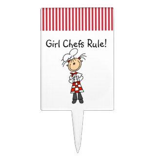 Girl Chefs Rule Cake Topper
