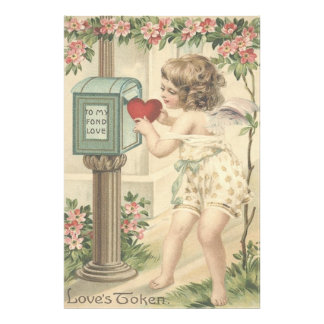 Girl Cherub Heart Cupid Mailbox Valentine Photograph