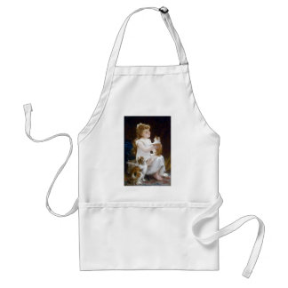 Girl Child Pet Cats Painting Apron