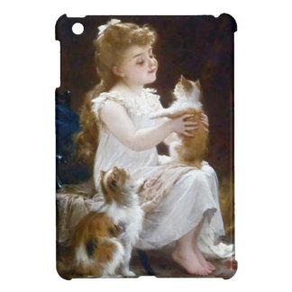 Girl Child Pet Cats Painting iPad Mini Cases