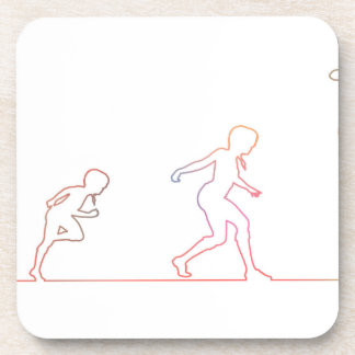 Girl Childhood Ambition and Chasing Her Dreams Drink Coaster