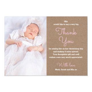 Girl Christening/Baptism Thank You Card
