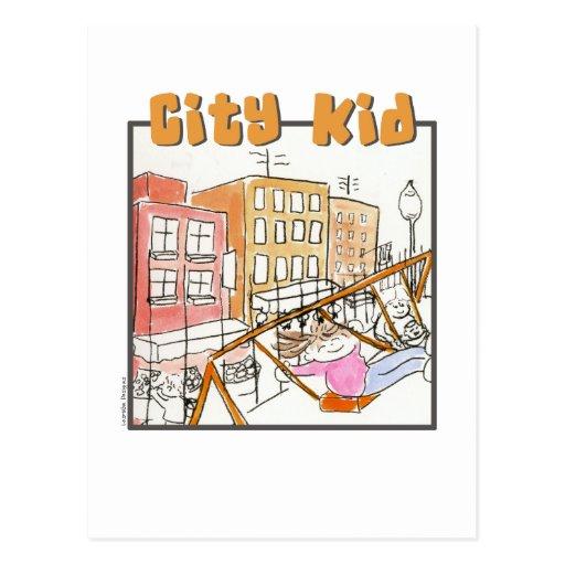 Girl City Kid Postcard