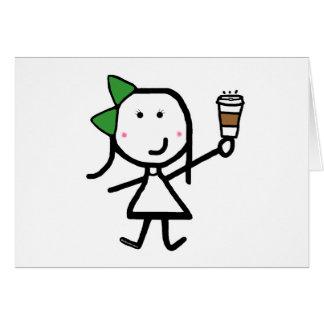 Girl & Coffee Card