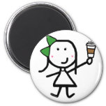 Girl & Coffee Magnets