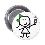 Girl & Coffee Pins