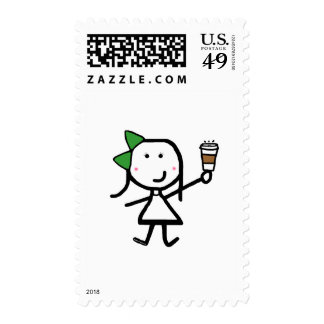 Girl & Coffee Stamp