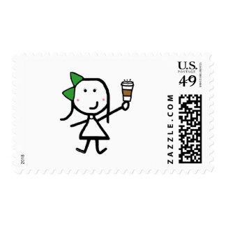 Girl & Coffee Postage