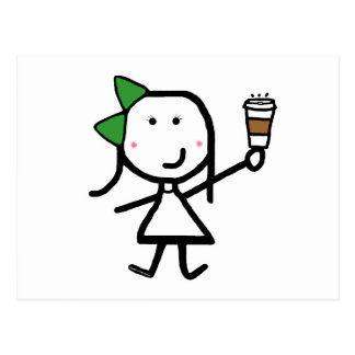 Girl & Coffee Postcard