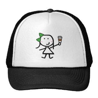 Girl & Coffee Trucker Hat