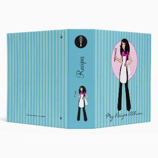 Girl Cook Recipe Binder Personalized