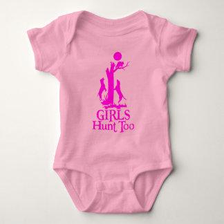 GIRL COON HUNTING BABY BODYSUIT