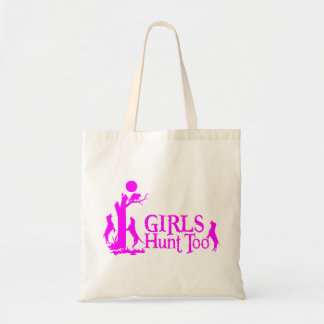 GIRL COON HUNTING TOTE BAGS