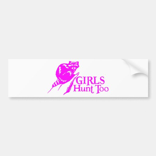 GIRL COON HUNTING BUMPER STICKER
