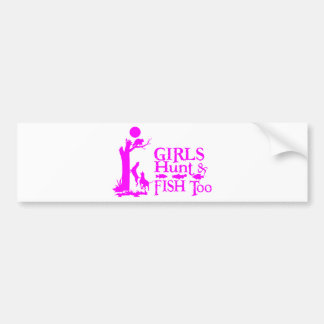 GIRL COON HUNTING CAR BUMPER STICKER