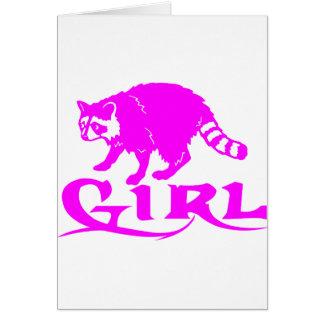 GIRL COON HUNTING GREETING CARD