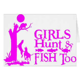 GIRL COON HUNTING CARD