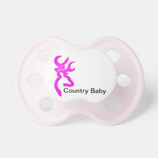 Girl country baby pacifier