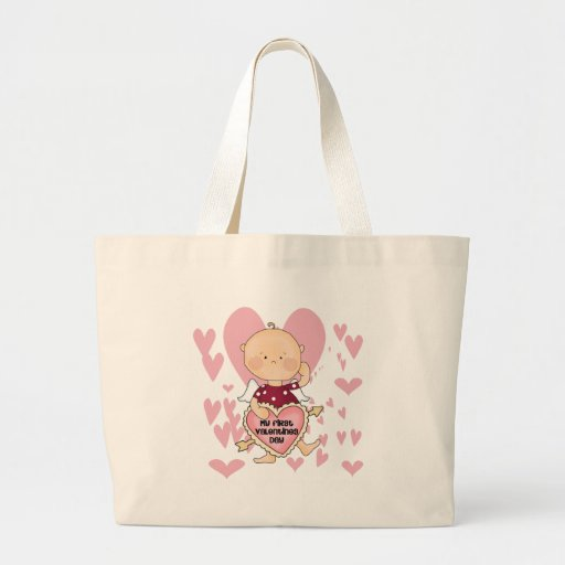 Girl Cupid 1st Valentine Tshirts and Gifts Bag