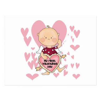 Girl Cupid 1st Valentine Tshirts and Gifts Postcard