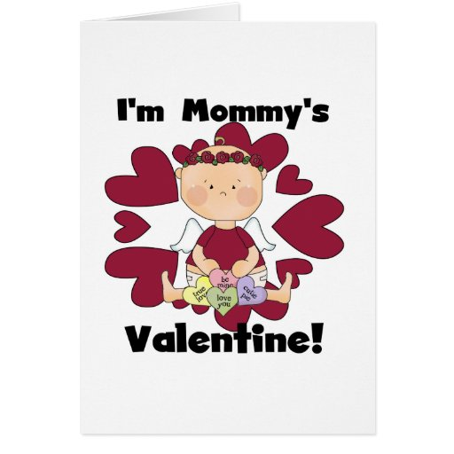 Girl Cupid Mommy's Valentine Tshirts Cards