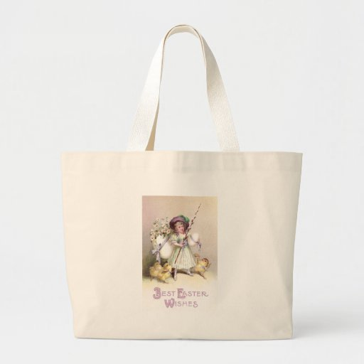 Girl, Daisies & Chicks on Leashes Canvas Bags