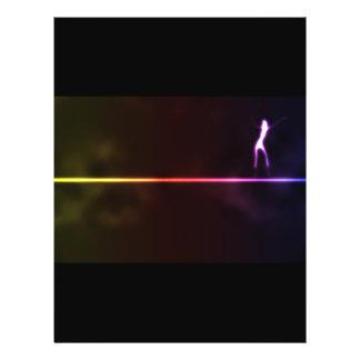 Girl-dancin-on-neon-light-line121 DANCING SHADOW A Flyer Design