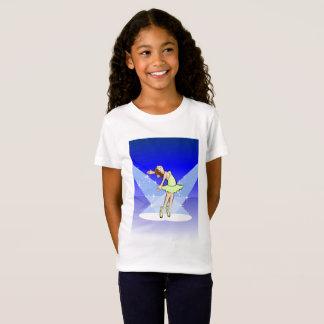 Girl dancing ballet at a spectacular moment T-Shirt
