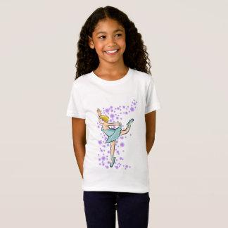 Girl dancing ballet between the flowers lilacs T-Shirt