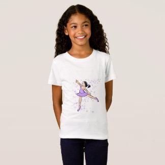 Girl dancing ballet dressed violet T-Shirt