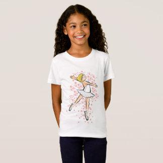 Girl dancing ballet under a wake of flowers T-Shirt