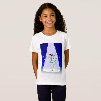 Girl dancing ballet under an illumination center T-Shirt