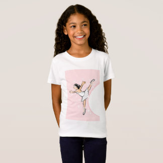 Girl dancing ballet under pink surroundings T-Shirt