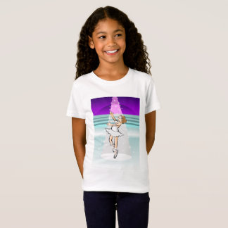 Girl dancing ballet under the lights of the T-Shirt