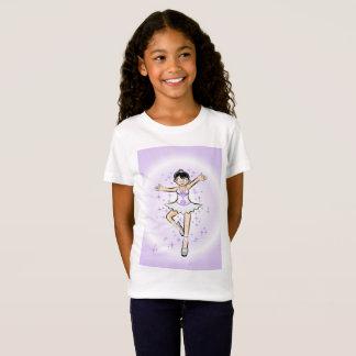 Girl dancing ballet under violet surroundings T-Shirt