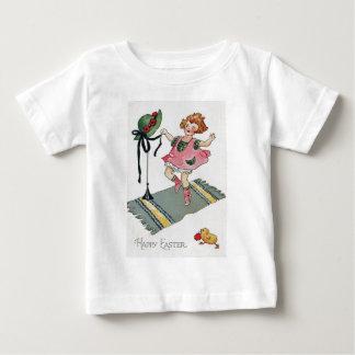 Girl Dancing Easter Chick Rug Baby T-Shirt
