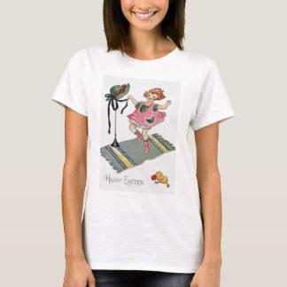 Girl Dancing Easter Chick Rug T-Shirt
