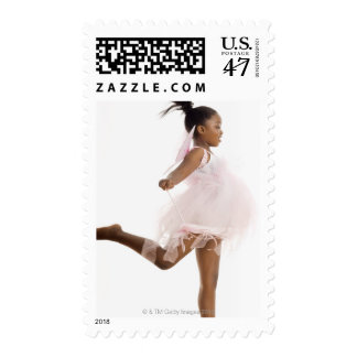 Girl dancing in fairy costume postage