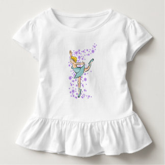 Girl dancing under a rain of flowers lilacs toddler t-shirt
