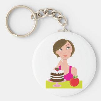 Girl Deciding Keychain
