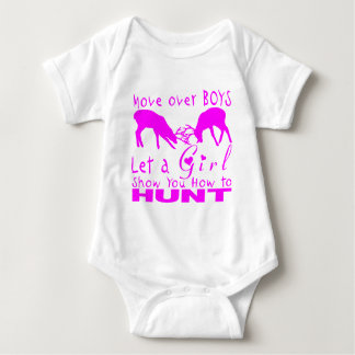 GIRL DEER HUNTING BABY BODYSUIT