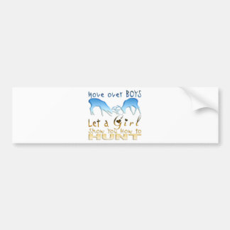 GIRL DEER HUNTINGg Bumper Sticker