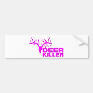 GIRL DEER KILLER BUMPER STICKER