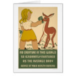 Girl Deer Nutrition 1938 WPA
