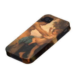 Girl Defending Herself Against Cupid by Bouguereau iPhone 4 Cases