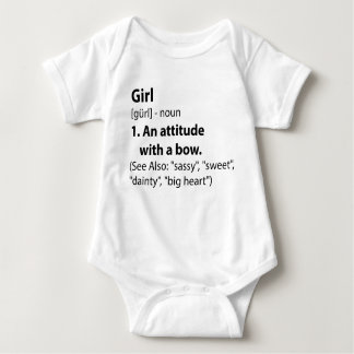 Girl Definition Baby Bodysuit