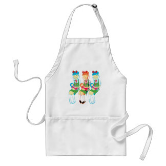 Girl Doctors and Dolls Adult Apron