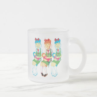Girl Doctors and Dolls Frosted Glass Coffee Mug
