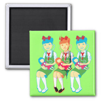 Girl Doctors and Dolls Magnet