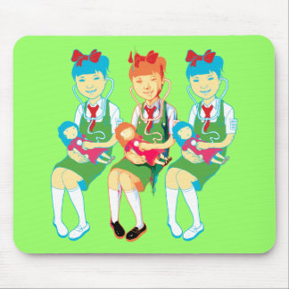 Girl Doctors and Dolls Mouse Pad